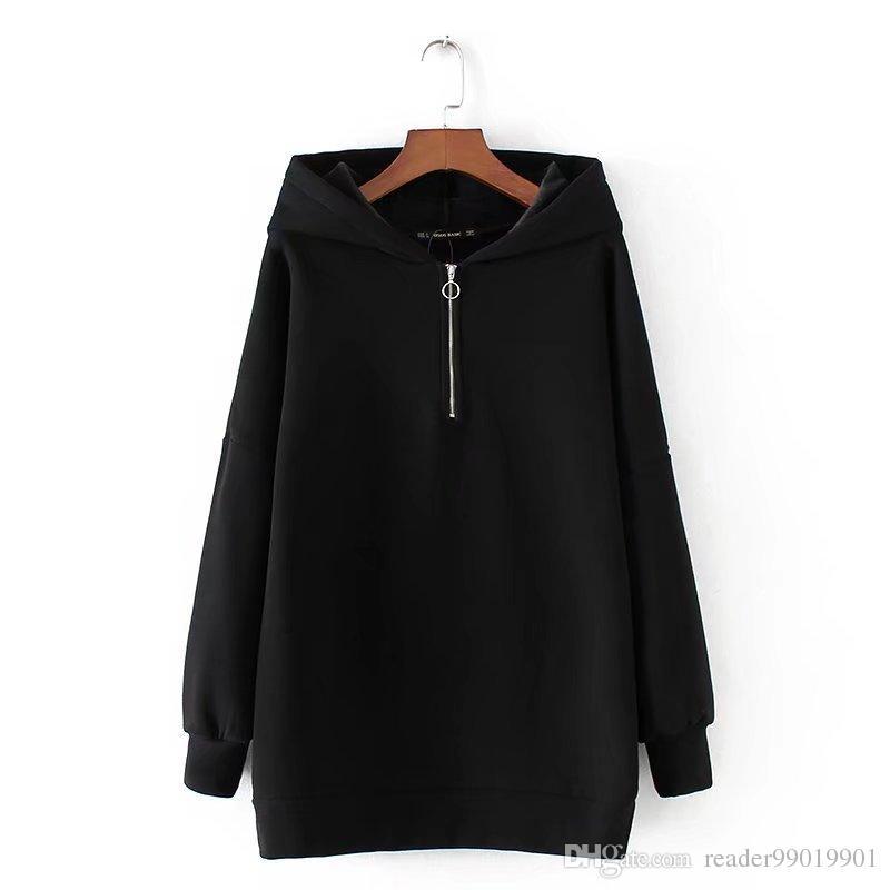 XS-L femmes automne hiver mode hoodies manches longues à capuche dames chaudes pull décontracté en molleton épais Tops * 36
