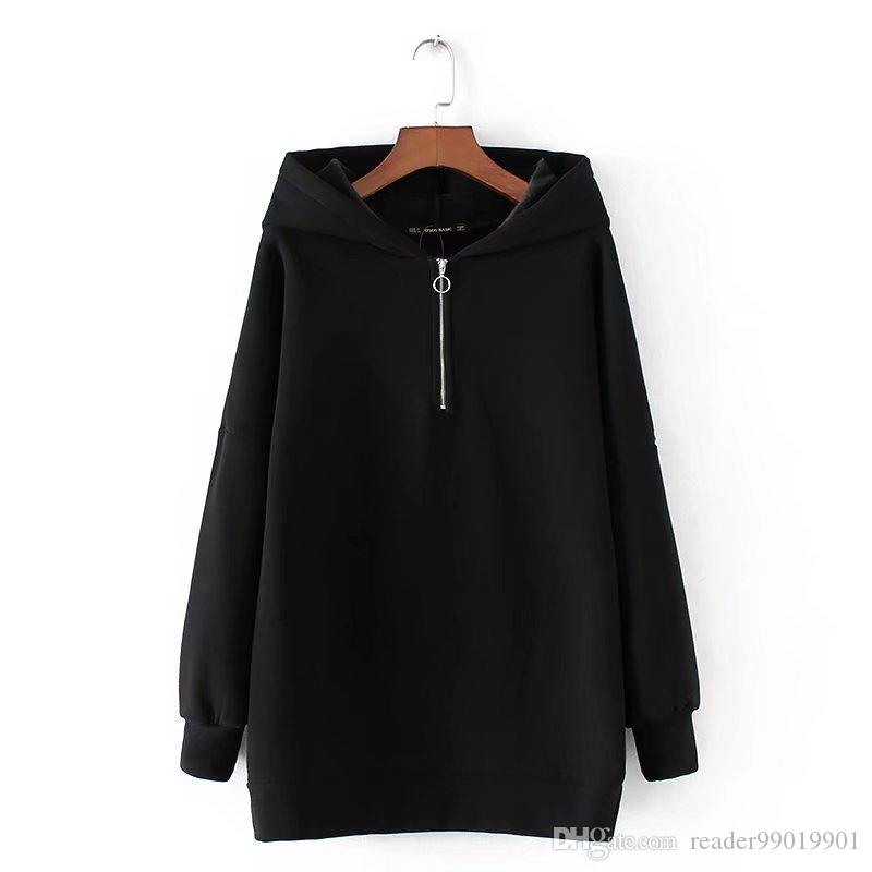 XS-L mujer otoño invierno moda sudaderas con capucha de manga larga con capucha cálido damas casual suéter de lana grueso Tops * 36