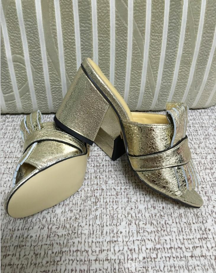 2018 New Design Women's fashion thick heels sandals office lady casual holiday beach soft suede leather slides girls summer big size 42 41 9