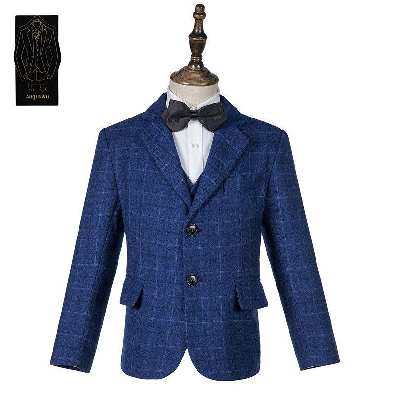 Yüksek kaliteli yüksek kaliteli yün karışımı erkek takım elbise üç parçalı takım elbise (ceket + pantolon + yelek) erkek yakışıklı parti elbise desteği özel