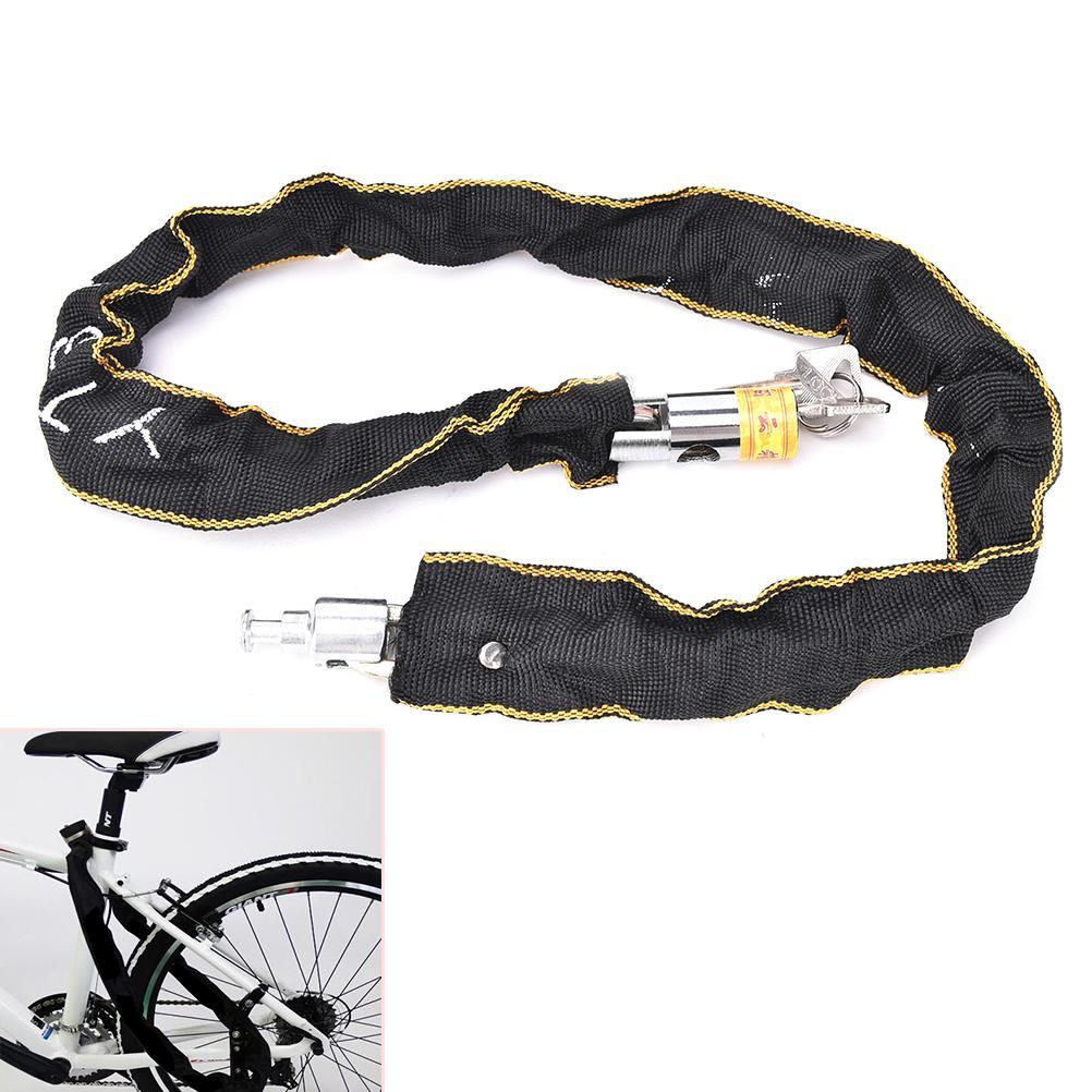 Heavy Duty High Secuirty Motorcycle Bicycle Bike Chain Padlock Lock Black colorF