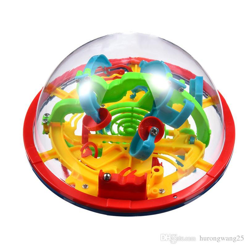 Puzzle-Spiel Spielzeug 3D Magic Maze Ball 100 Levels Große Rolling Ball Intellektuelle UFO Maze Ball Kindheit Lernspielzeug