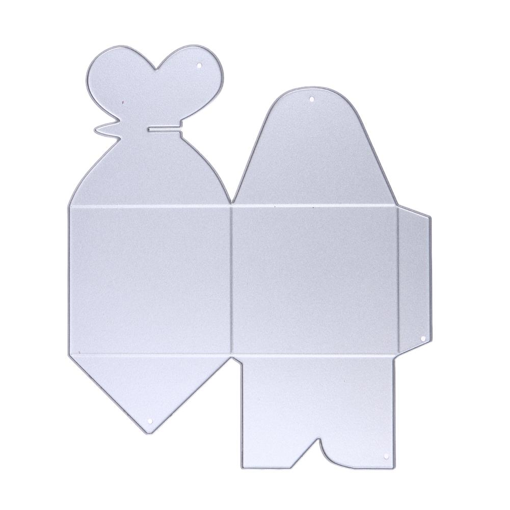 Lovely Wedding Box Metal Cutting Dies Stencils for DIY Scrapbooking Stamp/photo album Decorative Embossing DIY Paper Cards