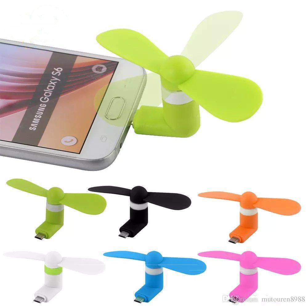 Mini tragbarer Micro USB Power Lüfter für iPhone /& Android Phone Schwarz