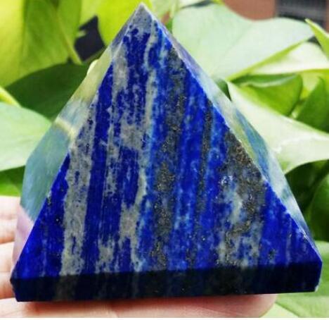 Lapis-lazuli, pyramide de quartz naturelle cicatrisante