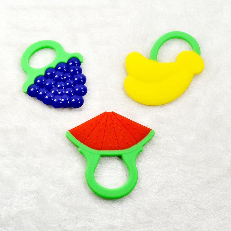 الطفل عضاضة لعبة فرشاة الأسنان الرضع الكرتون شكل التسنين العنب الاسوره سيليكون المولي التسنين لعب استرضاء هدية للأطفال