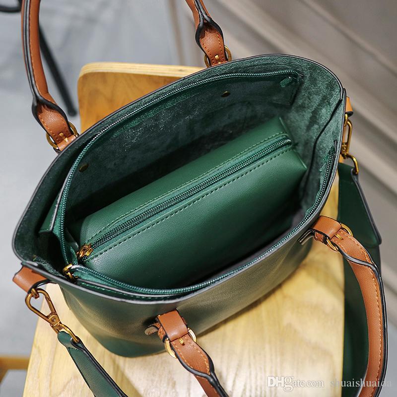 2021 Big Casual A016 Saco de Compras da Mamãe Alta Sacos de Alta Capacidade Totte Handbags Mulher Qualidade PU Bolsa Totes Bag Ombro Moda Qliid