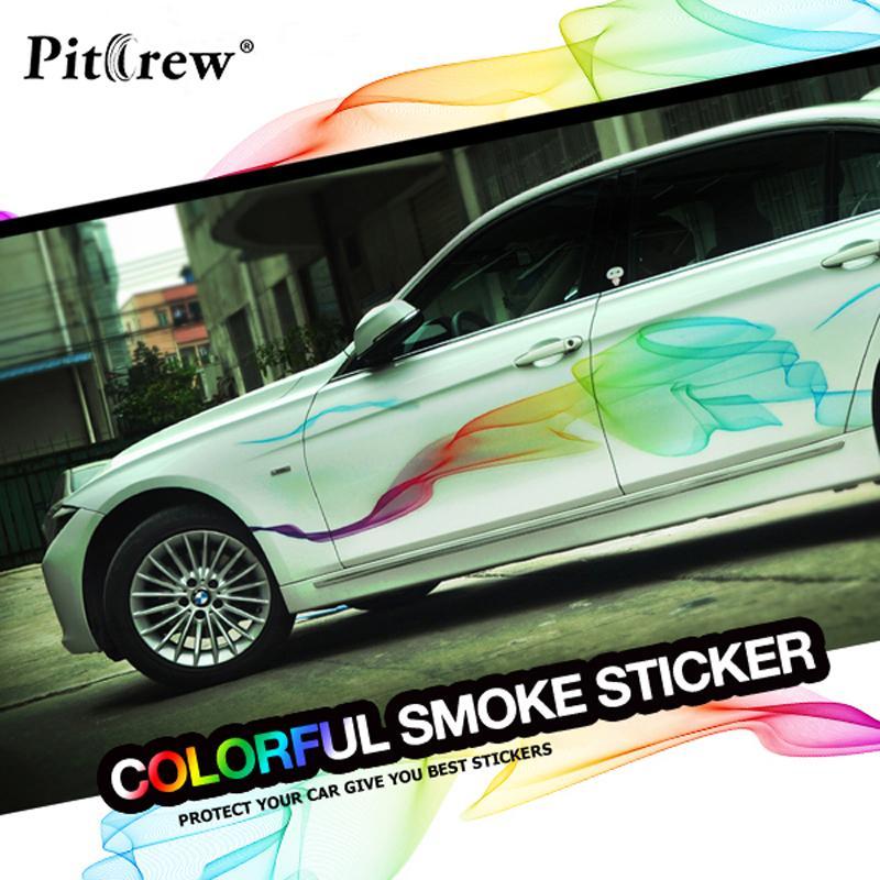Adesivi auto all'ingrosso bellissimo arcobaleno Linee Car Styling Stickers decorativi per il corpo intero Sintonia Styling impermeabile Accessori Esterni