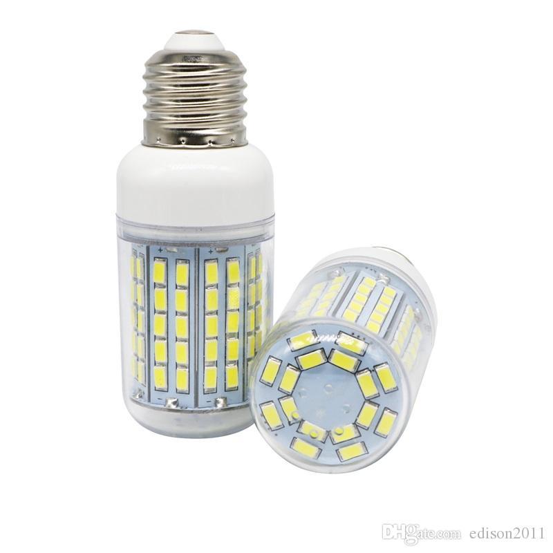 Edison2011 Hohe Leistung E14 E27 SMD 5730 LED Lampe 96 LED Mais Birne Fleck 220V / 110V warm weiß / weiß LED Kronleuchter Kerzenlicht