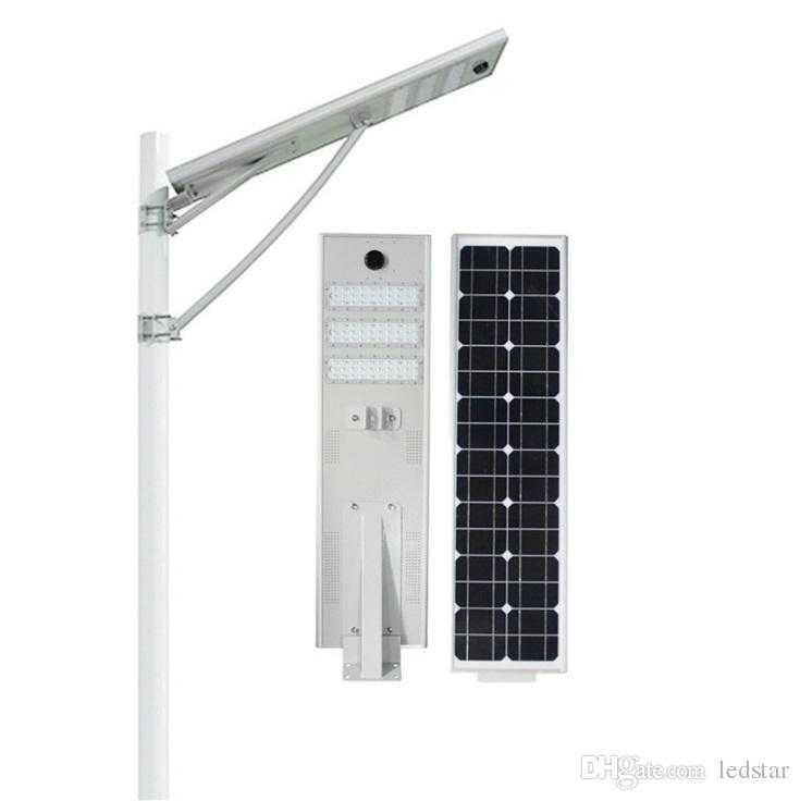 20 W 30 W 50 W LED luz de rua solar Ao Ar Livre À Prova D 'Água IP66 Projeto Integrado Radar Sensor PIR sensor de luz Inteligente