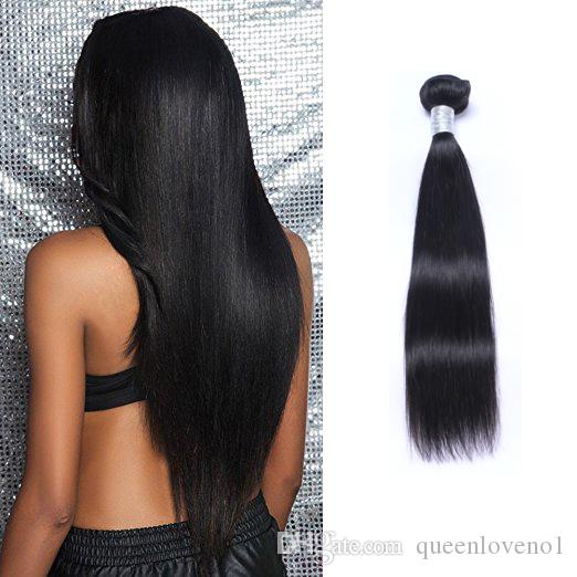 인도 버진 인간의 머리카락 스트레이트 처리되지 않은 레미 헤어 Weaves 이중 Wefts 100g / 번들은 염색 한 머리카락 확장을 염색 할 수 있습니다