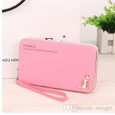 Women Wallets Brand Design Women Quality And Leather Wallet Female PU Fashion Long Wallets Purses Pocket High Hasp Cellphone Brqei
