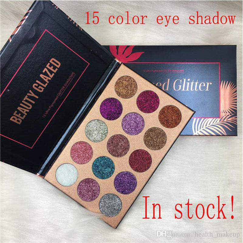 Makeup Beauty glazed glitter Eyeshadow Palette Ultra Shimmer 15 Colors Eye Shadow Palette New brand Face Cosmetics Free shipping