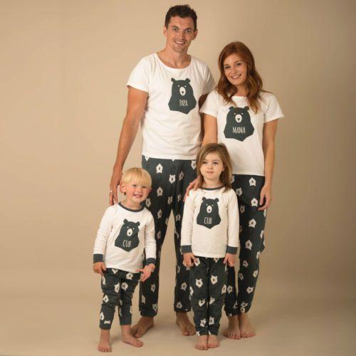 Christmas Family Pajamas Set.Christmas Family Pajamas Matching Outfits T Shirt Tops Pjs Set Nightwear Sleepwear Adult Mum Dad Kids Xmas Clothes Set Mommy And Me Clothing Matching