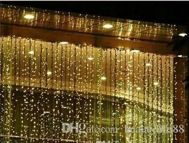1000 أضواء LED المصابيح المصابيح 10M * 3M الستار ، أضواء عيد الميلاد زخرفة ، فلاش ملون الجنية الزفاف الديكور LED قطاع LightAC.110V-250V