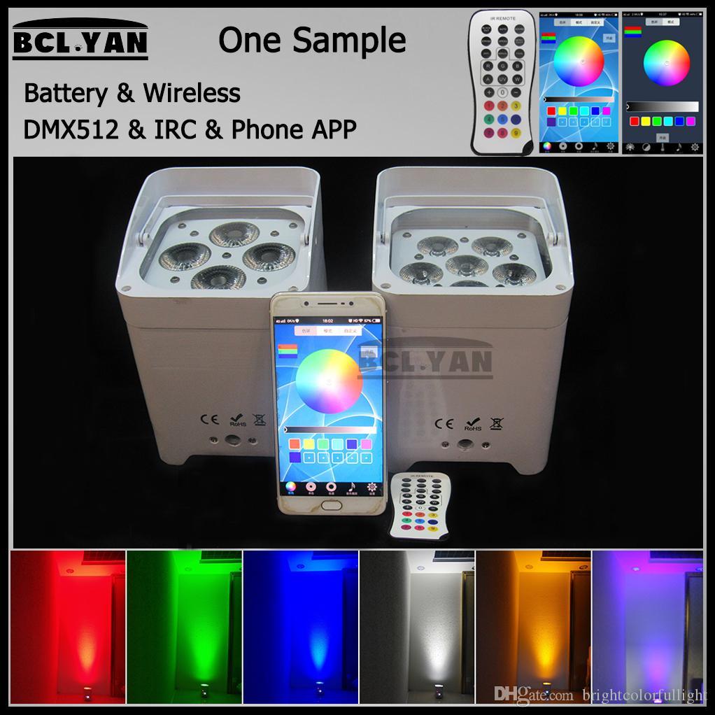 WIFI Phone app smart led freedom par light uplights HEX4/6 *18W RGBWAUV 6 IN 1 Led battery power wireless dmx DJ lighting