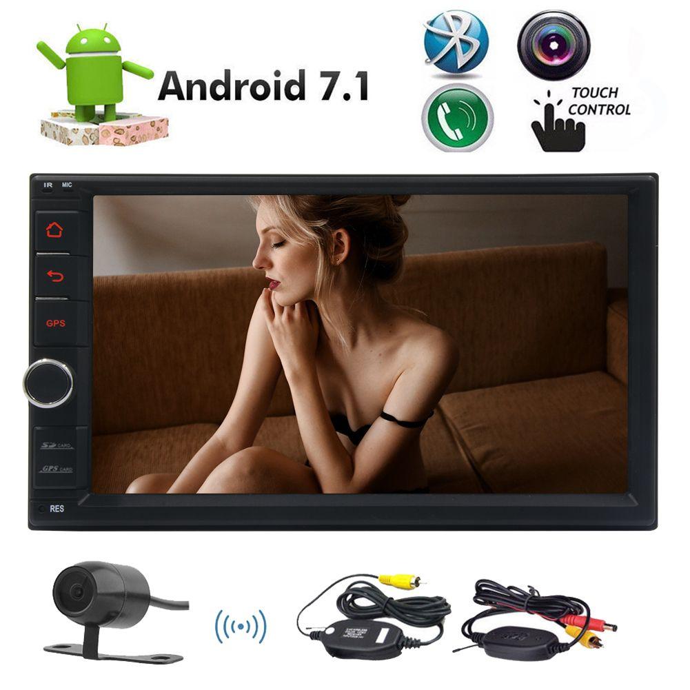 Octa Core Android 7.1 Car Stereo 2G RAM + 32G ROM Nougat System in Dash 7 '' Unità di navigazione digitale multi-touchscreen Navigazione GPS Bluetooth FM