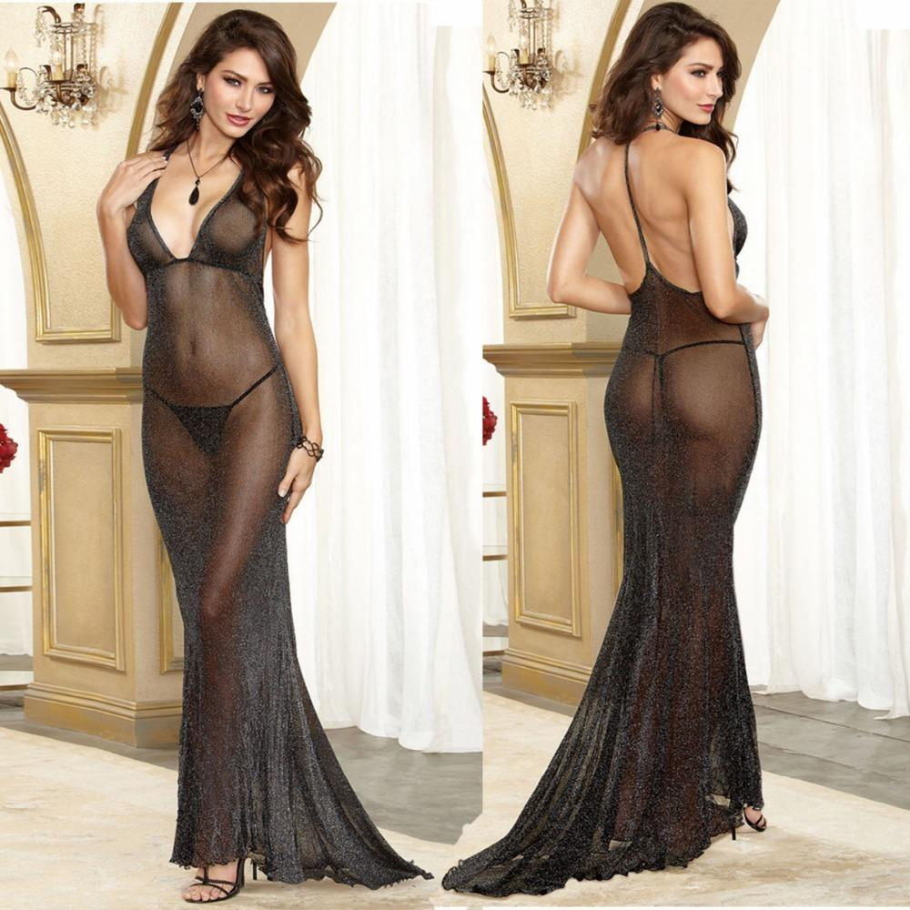 Plus Size Porn Women Hot Costumes Sexy Dress Underwear Black Erotic Lingerie Lace Transparent Exotic Dancewear Elegant Sleepwear Y18101601