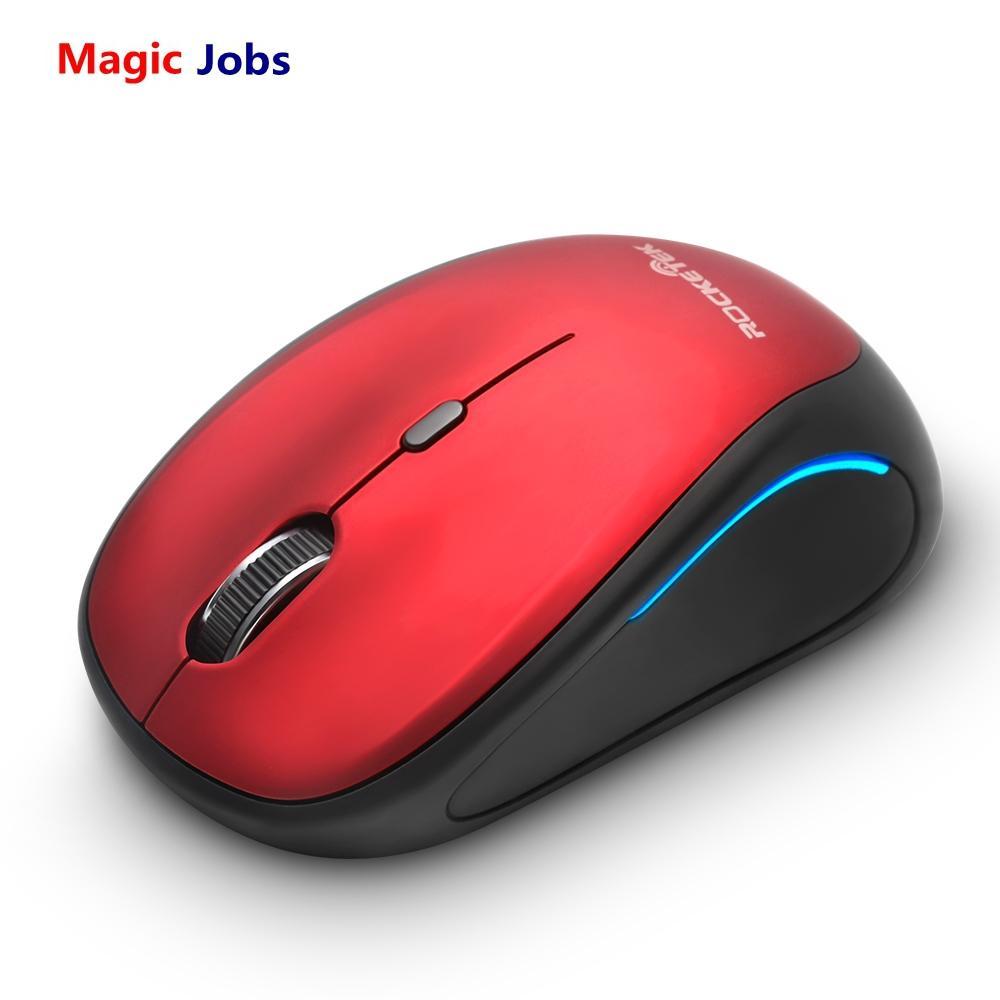 Sihirli Jobs Rocketek mini Kablosuz Fare 2.4 Ghz 1600 dpi Taşınabilir Fare Macbook PC, Windows 8 10 Dizüstü Bilgisayar Video Oyunu