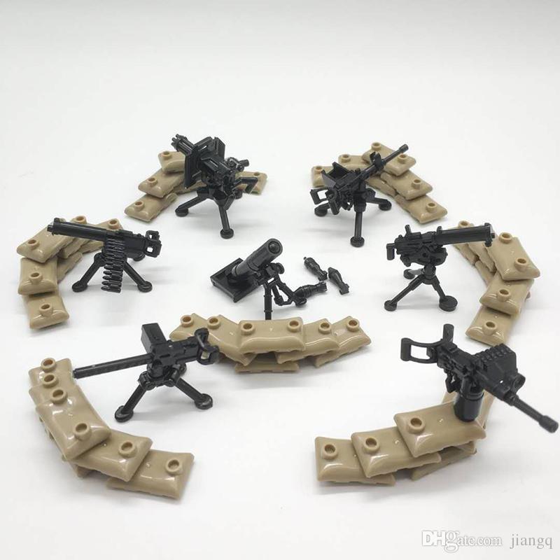 NEW LEGO Lot of 2 Black Weapon Barrels Tool Accessory Minifig F2