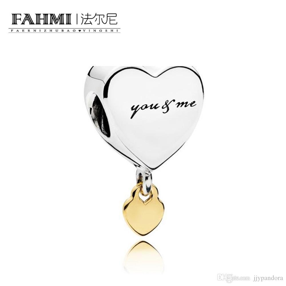Fahmi 100% 925 Sterling Silver 1: 1 Oryginalny 796558 Autentyczne Temperament Moda Glamour Retro Bead Wedding Women Jewelry