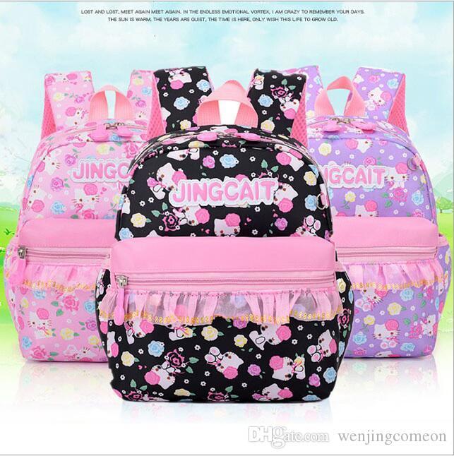 Hot New Children School Bags per adolescenti Ragazzi Ragazze Big Capacità Scuola Zaino Scuola A Waterproof Satchel Bambini Borsa da libro Bambini 6Color 2Size