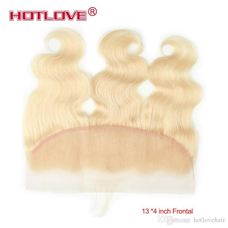 613 Blonde Frontal Closure 13 * 4 Freies Teil Brasilianisches Reines Menschenhaar Frontal mit Babyhaar Ohr an Ohr Frontal Brasilianische Gerade Körperwelle