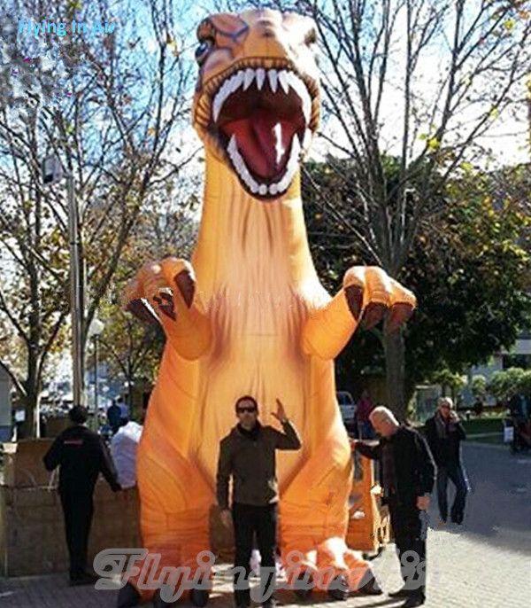 Park / Sokak / Etkinlik için Dev Açık 6m Jurassic Dragon Şişme Dinozor