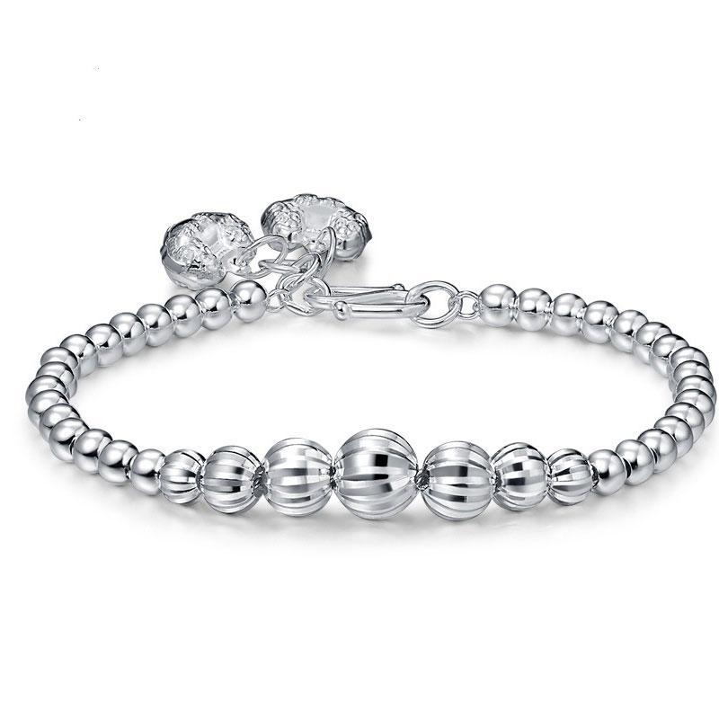 RADHORSE 999 Silver Bracelets for Women Fine Jewelry watermelon Transfer ball Classic Style adjustable Bracelets