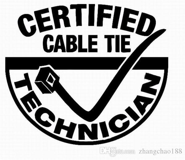 Hotsale cable tie divertido estilo auto etiqueta CA-357