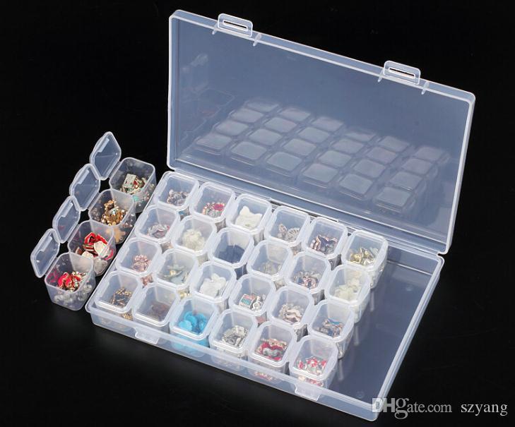 Compre 28 Celosías Caja De Almacenamiento De Arte De Uñas Desmontable Pintura De Diamante Contenedor De Almacenamiento Accesorios Cajas De Punto De Cruz Organizador De Joyas Sn2284 A 1 69 Del Szyang