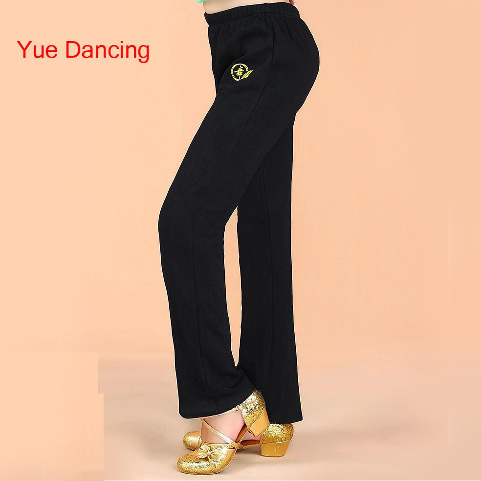 Unisex Black Latin Dance Pants Cotton Ballroom Dance Pants For Boys & Girl Child Salsa/Ramba/Tango Clothes Kids Trousers Costume