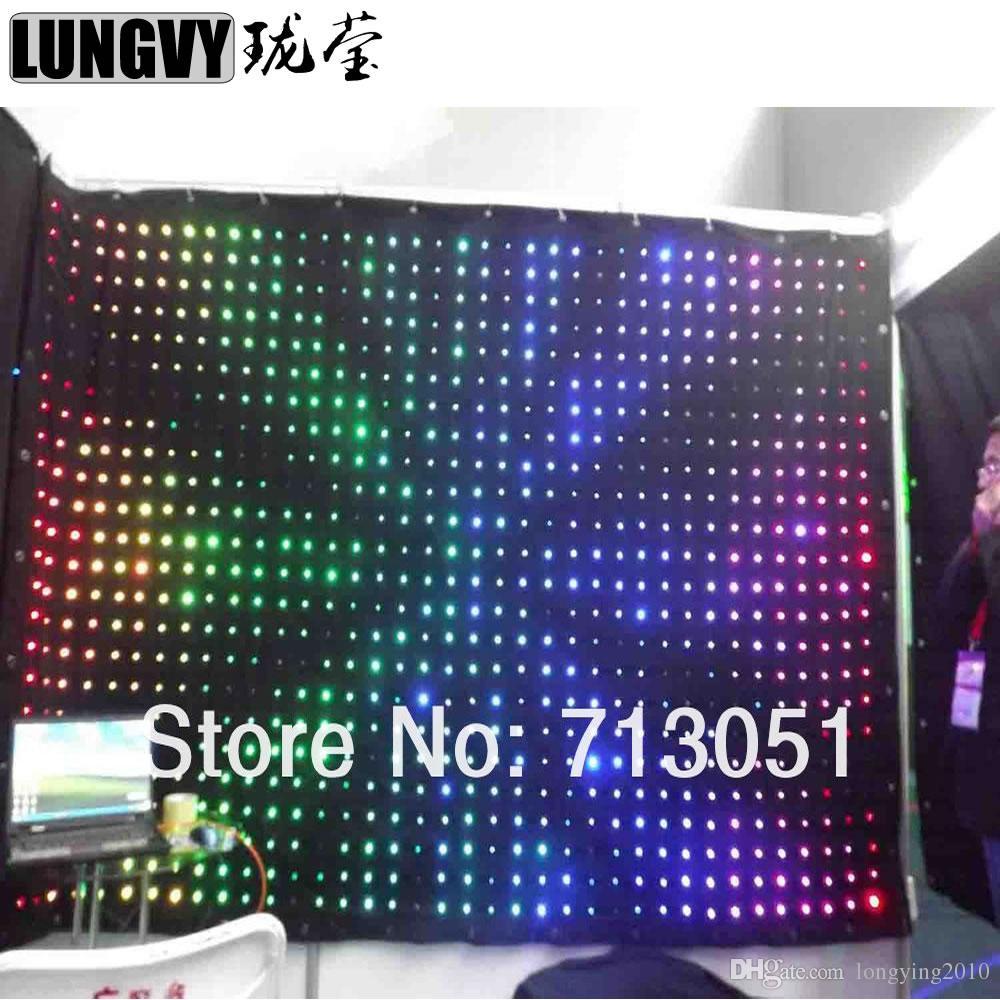 P18 4M * 4M Soft Cloth Vision RGB Led Video Curtain DJ Stage World Trade Centre Hall Hall