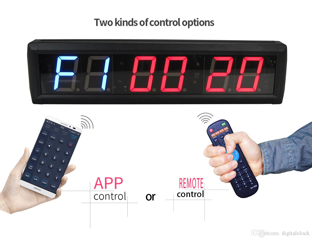 [GANXIN]2.3 inch Gym Crossfit Interval Training Timer Garage Timer Workout Timing Countdown Wall Clock with IR Remote control