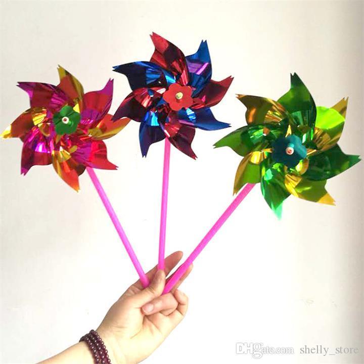 Красочные игрушки новинка пластиковые тонкий срез ветряная мельница вертушка самосборка цветок ветер Spinner DIY подарок для детей