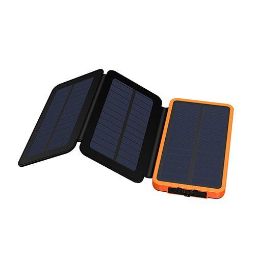 Power Bank 10000mAh перезаряжаемый внешний аккумулятор Макс. Солнечная батарея 3.6W, заряжающая банк солнечной силы.