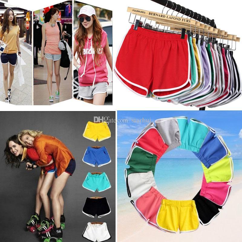22 색상 여성 코 튼 반바지 요가 스포츠 체육관 Homewear 적합 바지 여름 반바지 비치 실행 홈 의류 바지 WX9-703