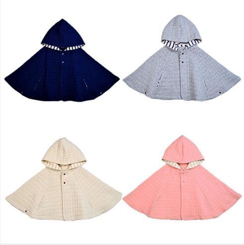 Niñas bebés Niños Capa de algodón Otoño Invierno Niños Sudaderas con capucha Moda Linda Mangas largas Ropa para niños pequeños 4 clases de color