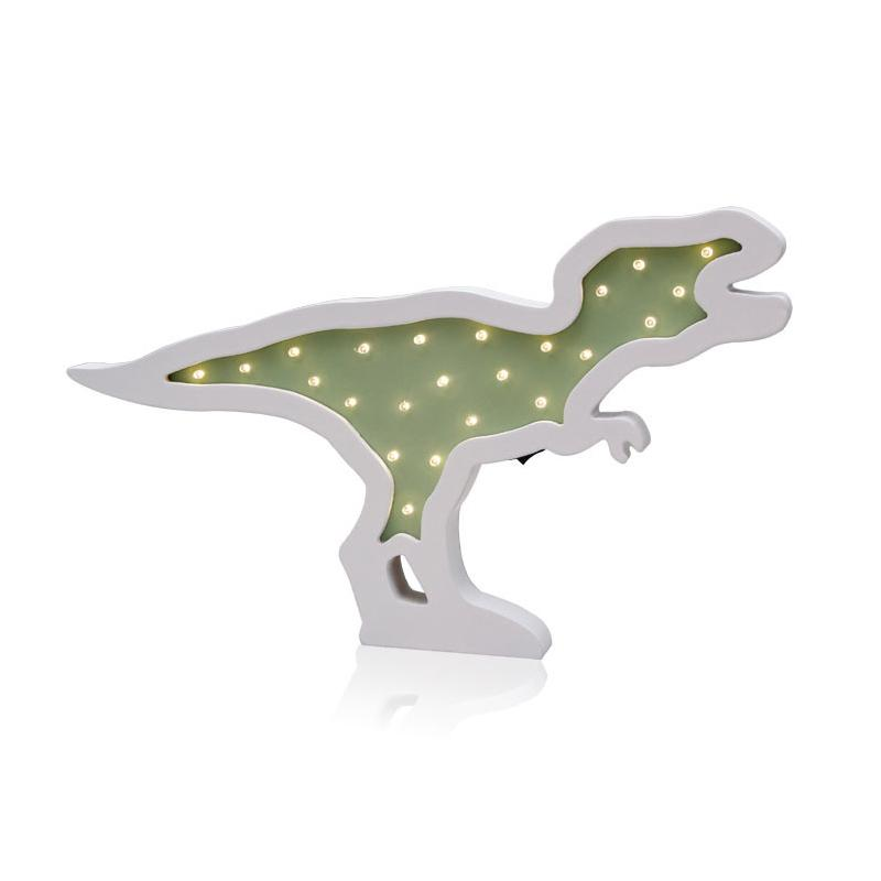 Home Decor Accessories Creative Wood Dinosaur LED Night Light Ornaments LED Lamp Children Toy Gifts Wall Hanging Decor