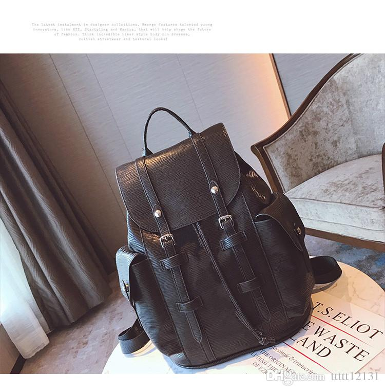 official photos popular stores 50% price Best New Mens And Womens Leather Backpack Travel Laptop Backpack ...