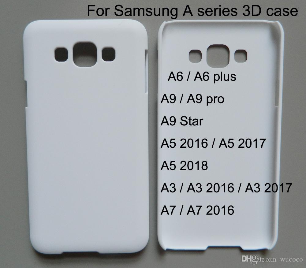 3d Blank Sublimation phone case for samsung galaxy A3 A5 A7 A8 2016 2017 2018 A6 plus A9 pro Star Custom print case 10 pcs/lot