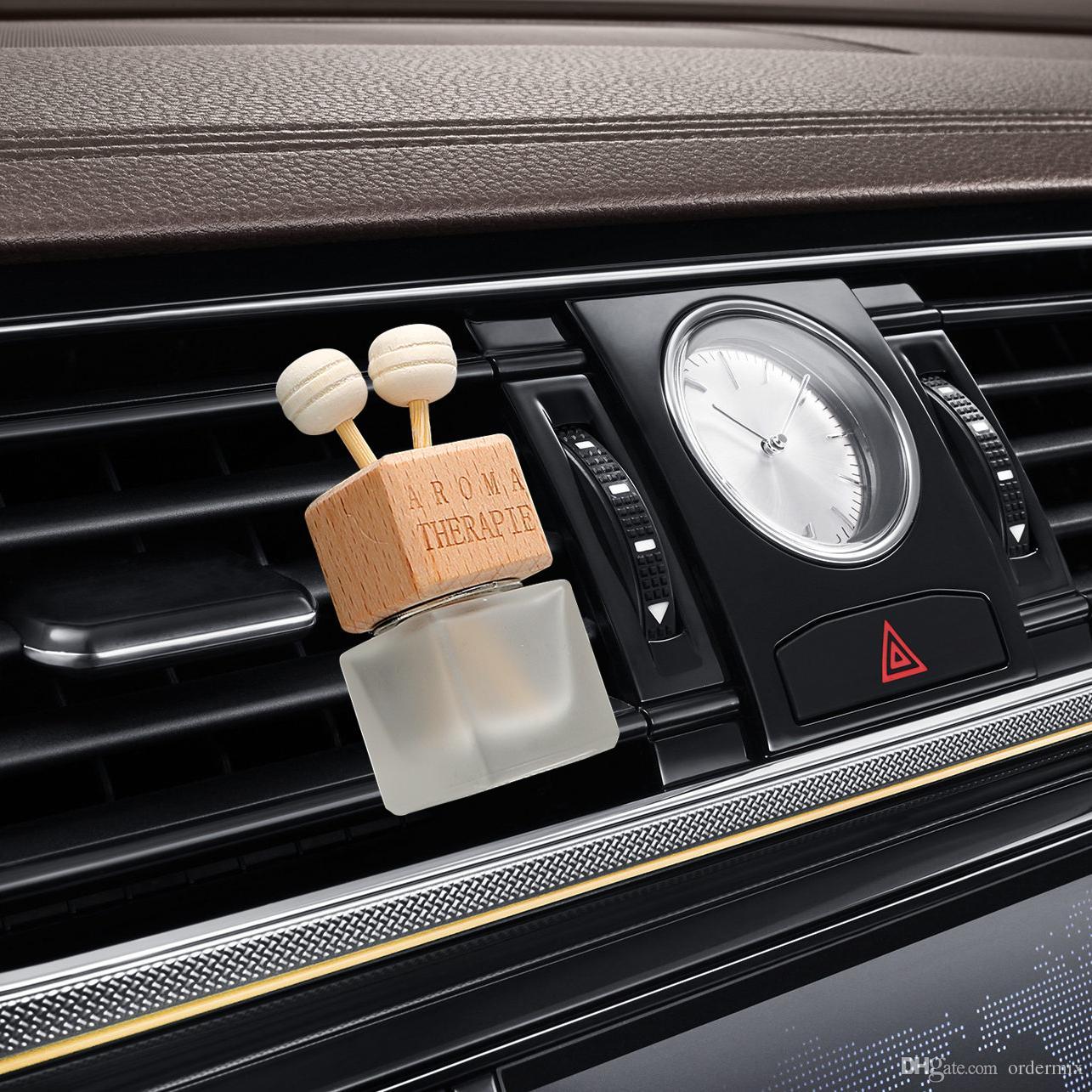 Samochód Odświeżacz Odświeżacz Wiszący Szklana butelka do olejków Expluds Car Perfume Butelka Crystal Car-Styling Auto Ornament Perfume Wisiorek