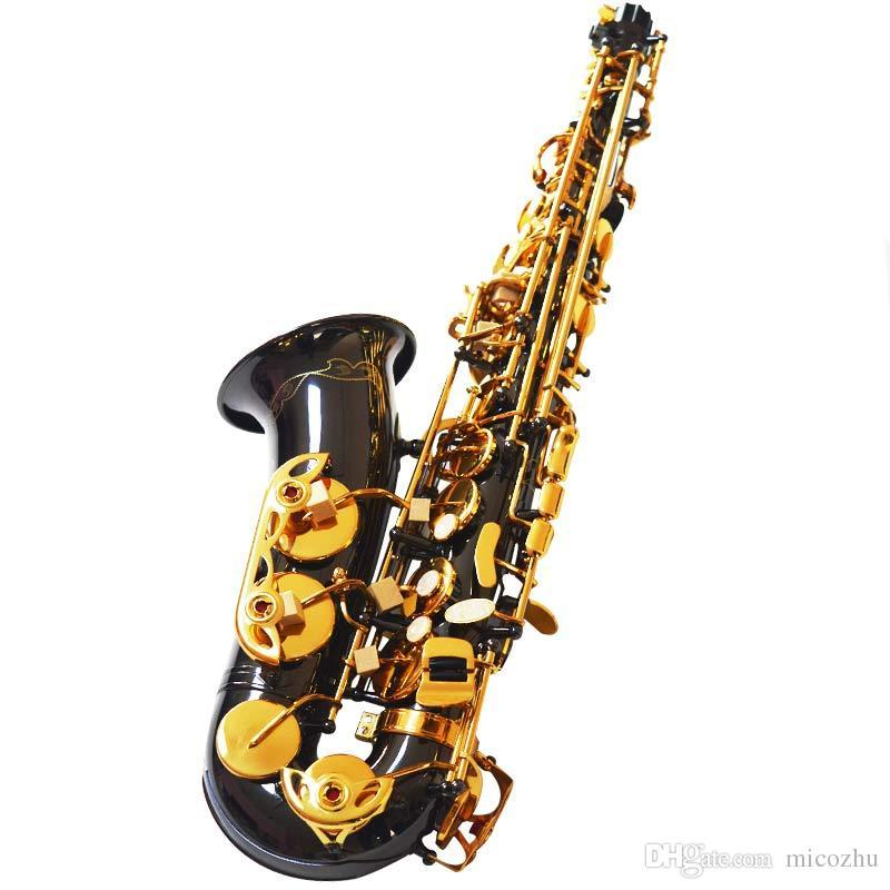 Nouvelle Arrivée LINGES Saxophone Alto Noir Nickel Or Laiton Instruments En Bois Saxofone E Plat Sax Avec Étui