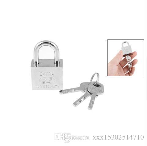 Keyed Padlock Waterproof Antirust Padlock Anti-Theft Lock Pry Door Window Lock *
