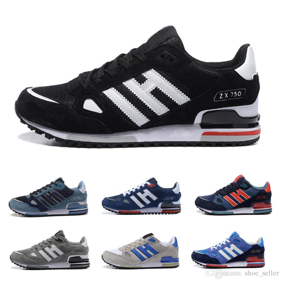 Acquista Superstar Adidas Shoes Commercio All'ingrosso EDITEX Originals ZX750 Sneakers Zx 750 Uomo E Donna Atletica Traspirante Scarpe Da Corsa