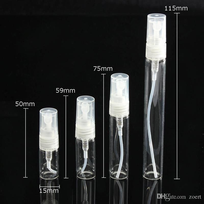 2ML 3ML 5ML 10ML البسيطة عينة المحمولة قوارير الزجاج زجاجة عطر فارغة للسياحة عطر زجاجة إعادة الملء Cosemtic الحاويات