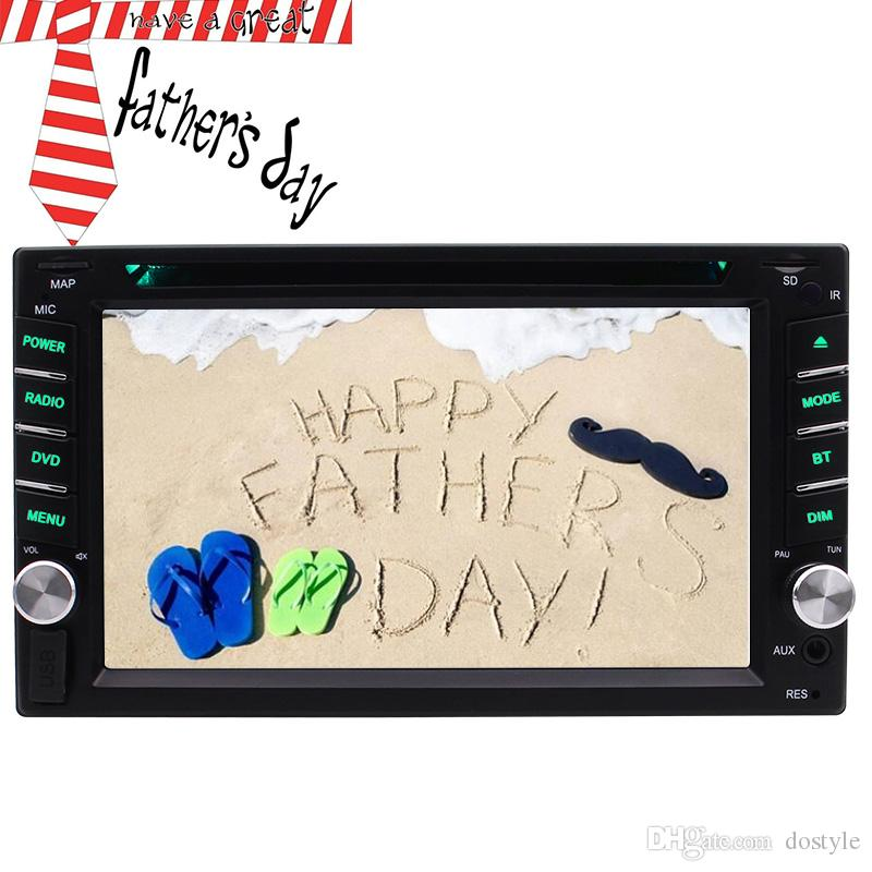 The best gift for my fathe ! 6.2'' car radio Car DVD player autoradio car pc in dash USB/AUX-in/Subwoofer/Steering wheell