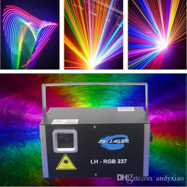 ILDA 1.5WATT كامل اللون RGB الإضاءة الليزر التناظرية مع بطاقة SD ل DJ Disco عيد الميلاد حفلة العرض