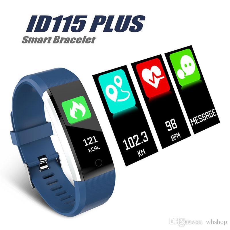 ID115 ч плюс смарт-браслет Фитнес сердечного ритма трекер шаг счетчик активности монитор группа будильник вибрации браслет высокое качество