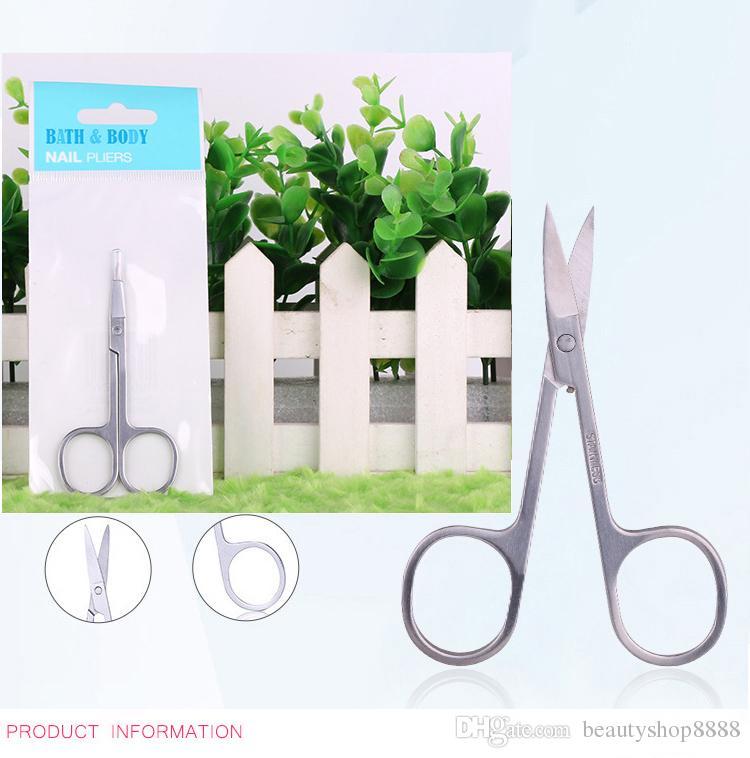 Profesyonel Paslanmaz Çelik Makas Nail Art Manikür Makas Tırnak Manikür Kavisli Makas Tırnak Araçları D159